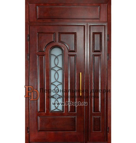 Входные двери со стеклом и ковкой