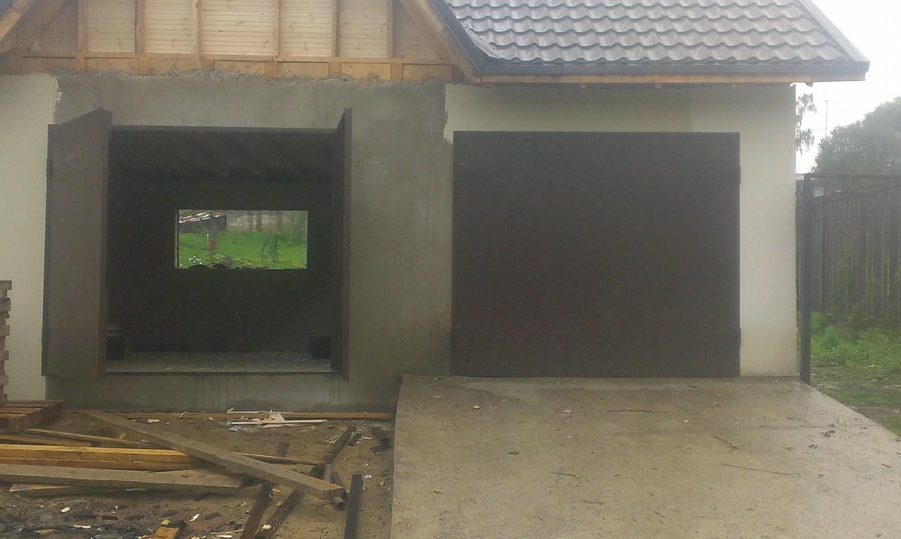 гаражные ворота входные двери для коттеджей