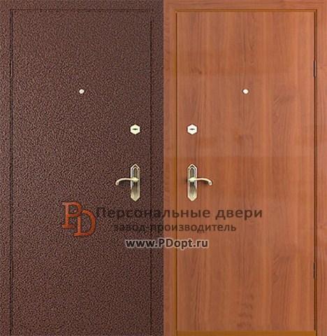 Бюджетные стальные двери с отделкой ламинатом