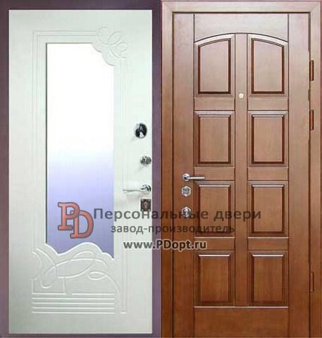 Входные двери с зеркалом
